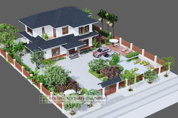 hình ảnh thiết kế biệt thự hiện đại